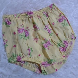 Carter's Baby Floral Print Diaper Cover-Size 6 Mos